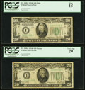Fr. 2058-I $20 1934D Wide Federal Reserve Note. PCGS Fine 15; Fr. 2058-I $20 1934D Narrow Federal Reserve Note.... (Tota...