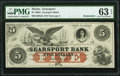 Searsport, ME- Searsport Bank $5 18__ Remainder PMG Choice Uncirculated 63 EPQ