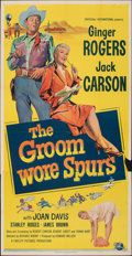 """Movie Posters:Comedy, The Groom Wore Spurs (Universal International, 1951). Folded, Fine+. Three Sheet (41"""" X 79.5""""). Comedy.. ..."""