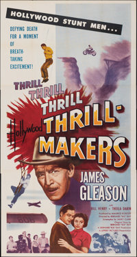 "Hollywood Thrill Makers & Other Lot (Lippert, 1954). Folded, Overall: Fine+. Three Sheets (2) (41"" X 77"" &..."