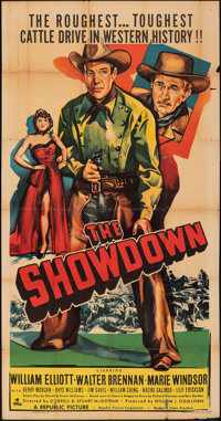 "The Showdown (Republic, 1950). Folded, Very Good+. Three Sheet (41"" X 79""). Western"