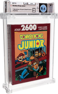 Donkey Kong Junior [Red Box] Wata 9.4 A++ Sealed Atari 2600 Atari 1988 USA