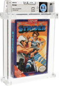 Video Games:Nintendo, Strider [Oval SOQ TM] Wata 8.5 A Sealed NES Capcom 1989 USA....