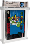 Video Games:Nintendo, Super Mario World [Standard Release] Wata 8.0 B+ Sealed SNES Nintendo 1991 USA....