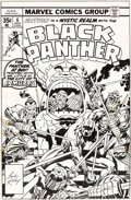 Original Comic Art:Covers, Jack Kirby and Frank Giacoia Black Panther #6 Cover Original Art (Marvel, 1977)....