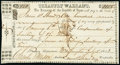 Washington(-on-the-Brazos), TX- Treasury Warrant $100 July 5, 1843 Cr. W4 Medlar 7 About Uncirculated, pen cancelled...