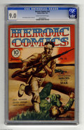Golden Age (1938-1955):War, Heroic Comics #16 (Eastern Color, 1943) CGC VF/NM 9.0 Cream tooff-white pages. New logo. Bud Thompson and H. G. Peter art. ...