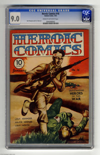 Heroic Comics #16 (Eastern Color, 1943) CGC VF/NM 9.0 Cream to off-white pages. New logo. Bud Thompson and H. G. Peter a...