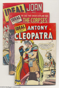 Ideal #1-4 Group (Timely, 1948-49). This lot consists of issues #1 (GD/VG, Antony and Cleopatra), #2 (GD/VG, The Corpses...