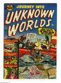 Golden Age (1938-1955):Horror, Journey Into Unknown Worlds #6 (Atlas, 1951) Condition: FN. RussHeath, Gene Colan art. Overstreet 2004 FN 6.0 value = $165....