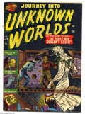 Golden Age (1938-1955):Horror, Journey Into Unknown Worlds #9 (Atlas, 1952) Condition: VG. Gianteyeball story. Mike Sekowsky and Joe Sinnott art. Overstre...