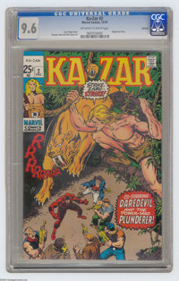 Ka-Zar #2 Oakland pedigree (Marvel, 1970) CGC NM+ 9.6 Off-white to white pages. Angel solo story. George Tuska and Dick...