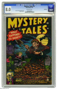 Mystery Tales #10 Bethlehem pedigree (Atlas, 1953) CGC VF 8.0 Off-white pages. Bill Everett cover. George Tuska art. Onl...
