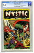 Golden Age (1938-1955):Superhero, Mystic Comics #1 (Timely, 1940) CGC FN- 5.5 Off-white to white pages. Angel, Human Torch, Destroyer, Terry Vance the Schoolb...