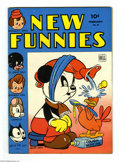 Golden Age (1938-1955):Funny Animal, New Funnies #84 (Dell, 1944) Condition: FN+. Walt Kelly art.Overstreet 2004 FN 6.0 value = $48; VF 8.0 value = $113....