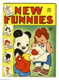 Golden Age (1938-1955):Funny Animal, New Funnies #85 (Dell, 1944) Condition: VG. Walt Kelly art.Overstreet 2004 VG 4.0 value = $32....