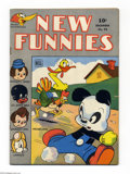 Golden Age (1938-1955):Funny Animal, New Funnies #94 (Dell, 1944) Condition: FN. Overstreet 2004 FN 6.0value = $27....