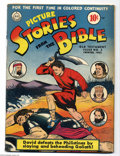 Golden Age (1938-1955):Religious, Picture Stories from the Bible - Old Testament 2 (DC, 1942)Condition: FN-. Overstreet 2004 FN 6.0 value = $75. From theG...