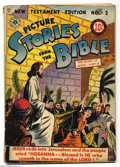 Golden Age (1938-1955):Miscellaneous, Picture Stories from the Bible The Story of Jesus 2 (EC, 1946) Condition: Apparent GD. Amateur restoration back cover. Overs...