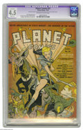 Golden Age (1938-1955):Science Fiction, Planet Comics #21 (Fiction House, 1942) CGC Apparent VG+ 4.5 Slight(A) Off-white to white pages. The Lost World and Hunt Bo...