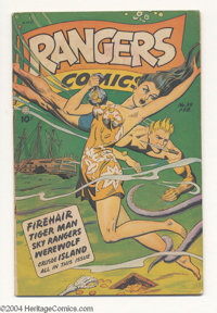 Rangers Comics #39 (Fiction House, 1948) Condition: VG. Joe Doolin cover. Matt Baker, Bob Lubbers, Charles Sultan, and J...