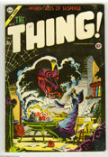 """Golden Age (1938-1955):Horror, The Thing! #17 (Charlton, 1954) Condition: FN+. Classic parody""""Through the Looking Glass."""" Steve Ditko cover. Overstreet 20..."""