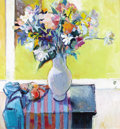 Fine Art - Painting, American:Contemporary   (1950 to present)  , ROBERT AARON FRAME (American 1924-1999). Birthday Flowers. Oil on canvas. 36 x 34 inches (91.4 x 86.4 cm). Signed lower ...