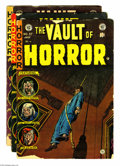 Golden Age (1938-1955):Horror, Vault of Horror Group (EC, 1954) Condition: Average GD. This lotconsists of issues #37 (first Drusilla), 38, and 40 (scarce...(Total: 3 Comic Books Item)