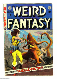 Weird Fantasy #21 (EC, 1953) Condition: VG/FN. Frank Frazetta/Al Williamson cover. Williamson/Roy Krenkel, Jack Kamen, J...