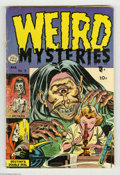 "Golden Age (1938-1955):Horror, Weird Mysteries #9 (Gillmor, 1954) Condition: GD/VG. Bernard Bailycover. Overstreet notes, ""Excessive violence, gore, and t..."