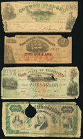 Obsoletes By State:Mississippi, A Quartet of Mississippi Obsolete Notes. Good or Better.. ... (Total: 4 notes)