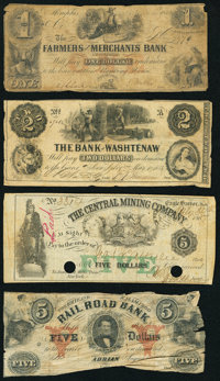 A Group of Eight Obsolete Notes from Michigan, Pennsylvania, Tennessee, and Virginia. Good or Better. ... (Total: 8 note...