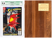 Superman #75 with Display Box (DC, 1993) CGC Qualified NM 9.4 White pages.... (Total: 2 Items)