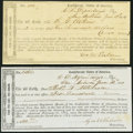Confederate Notes:Group Lots, San Antonio, TX Interim Depository Receipts Various Amounts 1864 Tremmel TX-81; 83 Fine-Very Fine.. ... (Total: 2 items)
