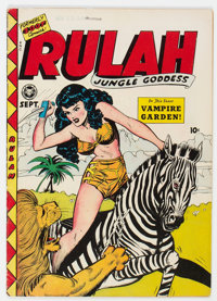 Rulah Jungle Goddess #18 (Fox Features Syndicate, 1948) Condition: VG/FN