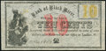 Obsoletes By State:Vermont, Ludlow, VT- (J.W. & E.G. Pettigrew) at Bank of Black River 10¢ Nov. 1862 Remainder Crisp Uncirculated.. ...