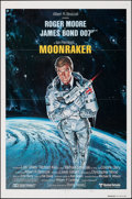 "Movie Posters:James Bond, Moonraker (United Artists, 1979). Folded, Very Fine-. International One Sheet (27"" X 41"") Teaser Style A. Dan Goozee Artwork..."