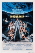 "Movie Posters:James Bond, Moonraker (United Artists, 1979). Folded, Very Fine-. International One Sheet (27"" X 41"") Teaser Style B. Dan Goozee Artwork..."