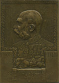 "Austria, Austria: Franz Joseph I ""On His 60th Anniversary of Reign"" Plaquette 1908 AU/UNC, ..."