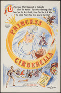 """Movie Posters:Foreign, Princess Cinderella & Other Lot (Carroll Pictures, 1955). Folded, Overall: Very Fine-. One Sheets (3) (27"""" X 41""""). Foreign.... (Total: 3 Items)"""