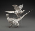 Silver & Vertu, A Pair of German Silver Pheasant Figures Imported by Berth...