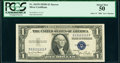 Small Size:Silver Certificates, Solid 1 Serial Fr. 1613N $1 1935D Silver Certificate. PCGS About New 50.. ...
