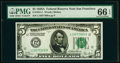 Small Size:Federal Reserve Notes, Fr. 1951-L $5 1928A Federal Reserve Note. PMG Gem Uncirculated 66 EPQ.. ...