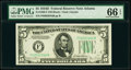 Small Size:Federal Reserve Notes, Fr. 1960-F $5 1934D Federal Reserve Note. PMG Gem Uncirculated 66 EPQ.. ...