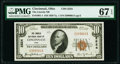 National Bank Notes:Ohio, Cincinnati, OH - $10 1929 Ty. 1 The Lincoln National Bank Ch. # 2524 PMG Superb Gem Unc 67 EPQ.. ...