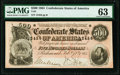 Confederate Notes:1864 Issues, T64 $500 1864 PF-2 Cr. 489 PMG Choice Uncirculated 63.. ...