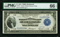 Fr. 721 $1 1918 Federal Reserve Bank Note PMG Gem Uncirculated 66 EPQ