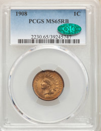 1908 1C MS65 Red and Brown PCGS. CAC. PCGS Population: (182/5). NGC Census: (237/25). CDN: $150 Whsle. Bid for NGC/PCGS...