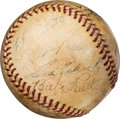 Baseball Collectibles:Balls, Late 1930's New York Yankees Multi-Signed Baseball with Ruth & DiMaggio....