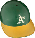 Baseball Collectibles:Others, 1974-75 Herb Washington Game Worn Oakland A's Helmet. ...